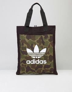 Сумка с камуфляжным принтом adidas Originals BK2153 - Черный