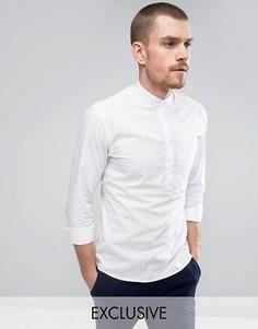 Рубашка слим с воротником на пуговицах Noak - Белый