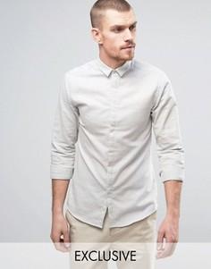 Приталенная рубашка с маленьким воротником Noak - Серый