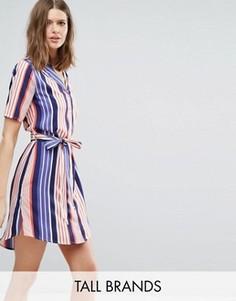 Платье-рубашка в полоску Influence Tall - Синий