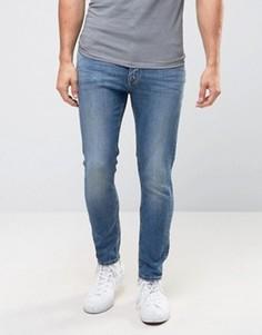 Зауженные джинсы с заниженным шаговым швом Calvin Klein Jeans - Синий