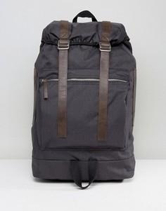 Черный походный рюкзак с коричневой отделкой ASOS - Черный