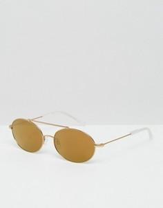 Круглые солнцезащитные очки Kaibosh Metallicum - Золотой