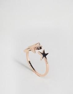 Незамкнутое кольцо ограниченной серии со звездами - Медный Asos