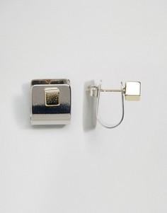 Серьги-гвоздики кубической 3D формы ограниченной серии - Мульти Asos