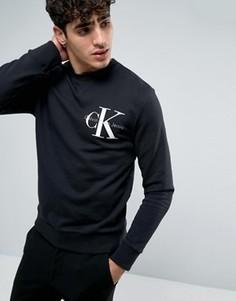 Черный свитшот с логотипом Calvin Klein Jeans Re-Issue - Черный
