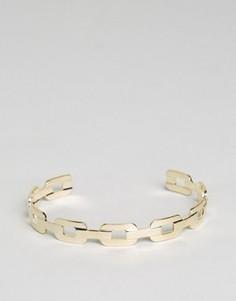 Незамкнутый браслет-манжета ограниченной серии в виде цепи - Золотой Asos