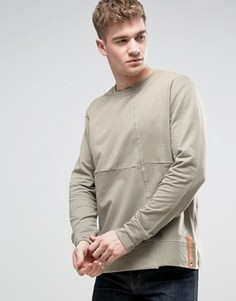 Свитер со вставками Nudie Jeans Co Simon - Зеленый
