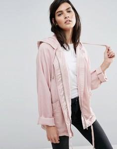 Мягкая куртка с капюшоном ASOS - Розовый