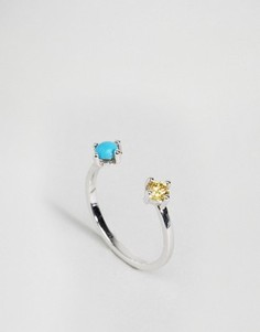 Кольцо на мизинец ограниченной серии с камнями - Серебряный Asos