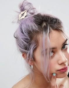 Заколка для волос ограниченной серии в виде губ - Золотой Asos