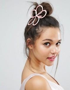 Заколка для волос с вуалеткой ограниченной серии - Розовый Asos