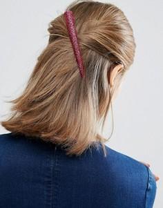 Заколка для волос ограниченной серии с розовыми блестками - Розовый Asos