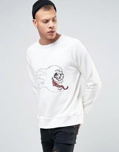 Свитшот с черепом Cheap Monday Rules - Белый