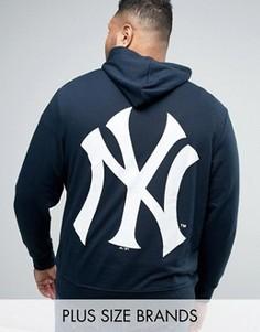 Худи с принтом на спине Majestic PLUS New York Yankees - Темно-синий