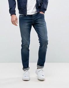 Темно-синие выбеленные джинсы слим Jack & Jones Intelligence - Синий