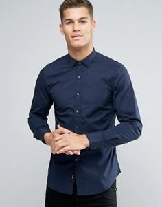 Рубашка слим с заостренным воротником Replay - Темно-синий