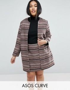 Комбинируемый пиджак в полоску ASOS CURVE - Мульти