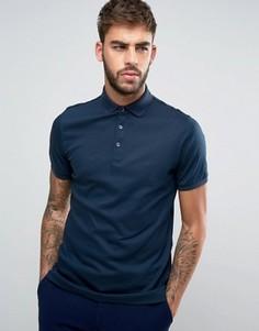 Трикотажная футболка-поло Calvin Klein - Темно-синий
