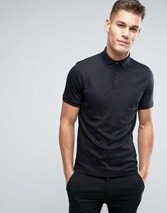 Трикотажная футболка-поло Calvin Klein - Черный