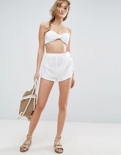 Пляжные шорты в полоску ASOS - Белый