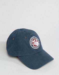 Синяя бейсболка с логотипом Abercrombie & Fitch - Синий