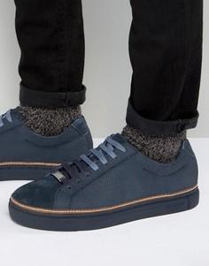 Замшевые кроссовки Ted Baker Klaxxn - Темно-синий