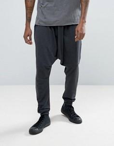 Легкие трикотажные джоггеры с заниженным шаговым швом ASOS - Серый