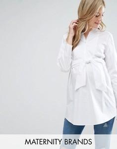 Рубашка с поясом Isabella Oliver - Белый