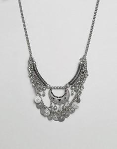 Ожерелье в несколько рядов с монетами Pieces Mia - Серебряный