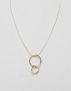 Длинное ожерелье Pieces Milla - Золотой