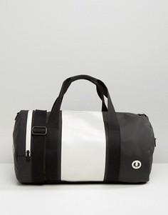 Черная матовая цилиндрообразная сумка Fred Perry - Черный