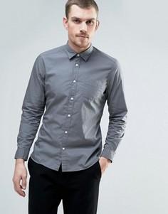 Хлопковая узкая рубашка Esprit - Серый