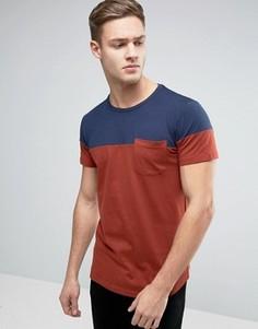 Разноцветная футболка с карманом Esprit - Темно-синий