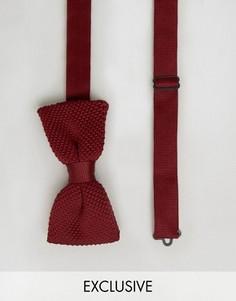 Вязаный галстук-бабочка Noose & Monkey - Красный