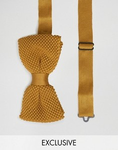 Вязаный галстук-бабочка Noose & Monkey - Желтый