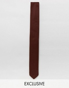 Узкий вязаный галстук Heart & Dagger - Коричневый