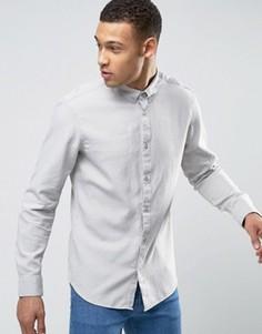 Узкая фактурная рубашка Selected Homme - Stone