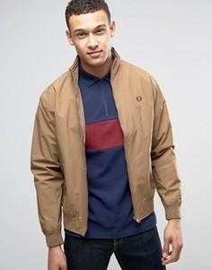 Светло-коричневая куртка на сетчатой подкладке Fred Perry Brentham - Коричневый