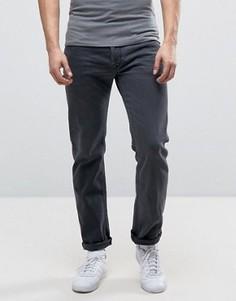 Темно-серые выбеленные прямые джинсы Diesel Waykee 0859X - Серый
