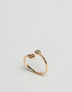 Незамкнутое кольцо с якорем ASOS - Золотой