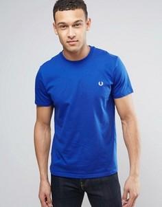 Синяя футболка с логотипом Fred Perry - Синий