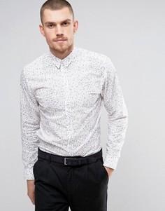 Узкая рубашка с принтом Selected Homme - Белый