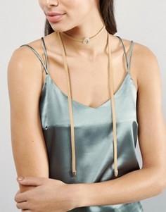 Ожерелье-чокер с полумесяцем Glamorous - Коричневый