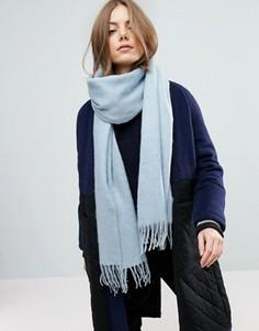 Длинный мягкий шарф с кисточками ASOS - Синий