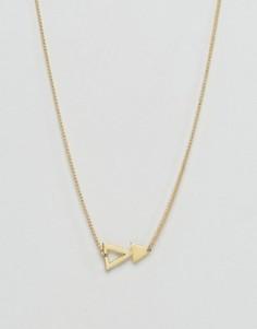 Ожерелье с треугольной подвеской Made - Золотой