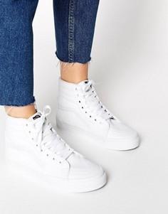 Белые высокие кроссовки Vans - Белый