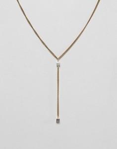 2-цветное ожерелье с подвеской Made - Золотой