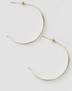 Серьги-кольца с листочками Made - Золотой
