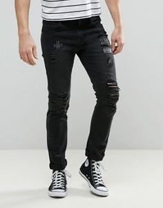 Черные джинсы скинни с нашивками Always Rare Tyler - Черный